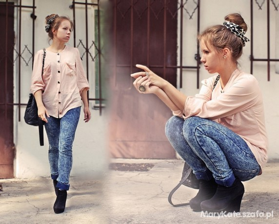 MARYKATE FASHION powderleopard and jeans