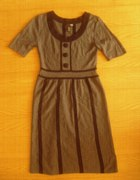 Retro dzianinowa sukienka 34 36
