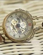 Zegarek kula wisior duży retro vintage steampunk