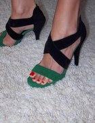 Czarno zielone ze skóry