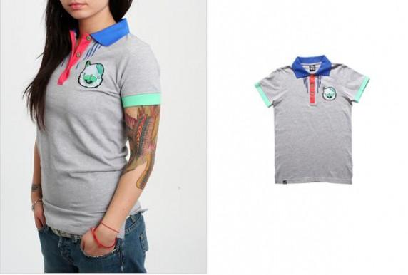 T-shirt DROP DEAD polówka głowa kota emo