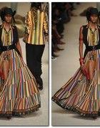 Suknia w paski