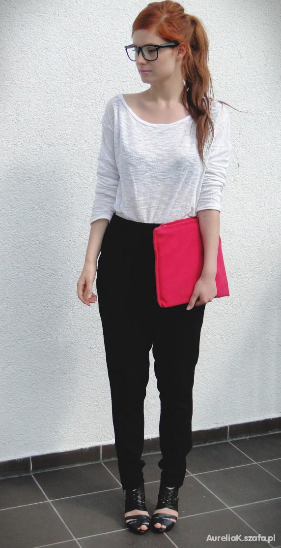Mój styl pink clutch