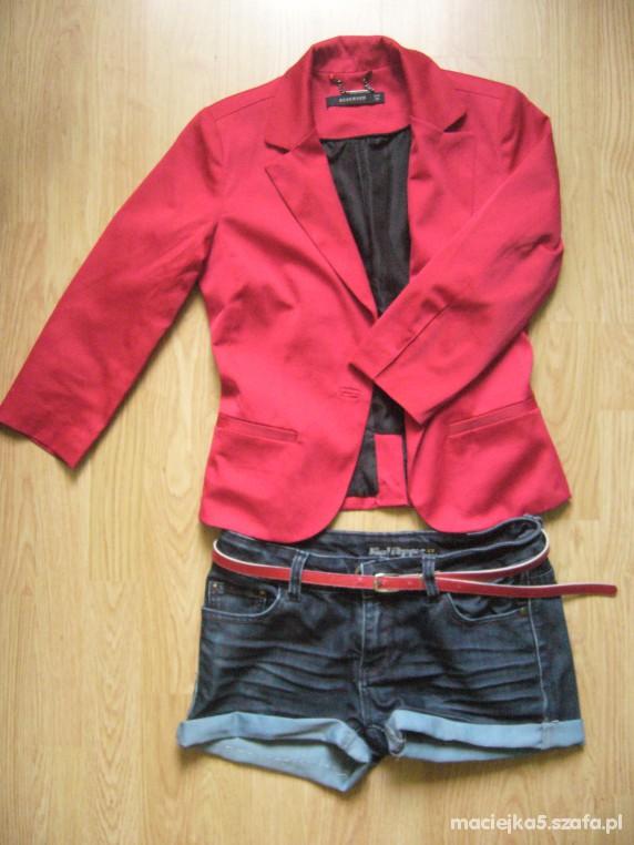 Mój styl czerwona marynarka & szorty