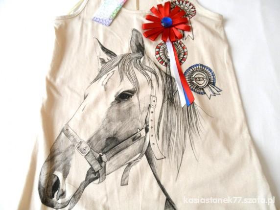 bluzeczka z koniem nowa 34
