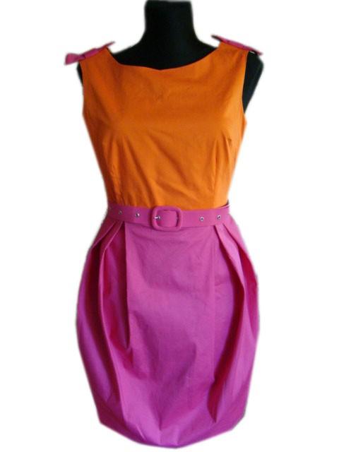 sukienka tulipan M z kokardkami