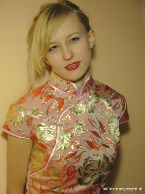 Eleganckie Chińska sukienka