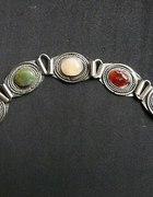 Piękna bransoleta boho vintage z kamieniami