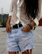 szorty jeansowe H&M diy