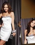 Biala sukienka mini zdobiona rozm 36