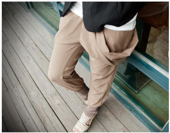 59 beżowe spodnie alladynki pumpy BM japan style
