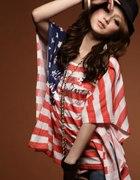 27 koszulka nietoperz USA flaga BM japan style