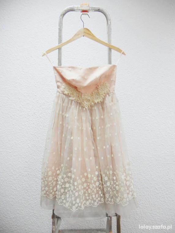 Suknie i sukienki New Look Vintage Limited edition sukienka pudrowa