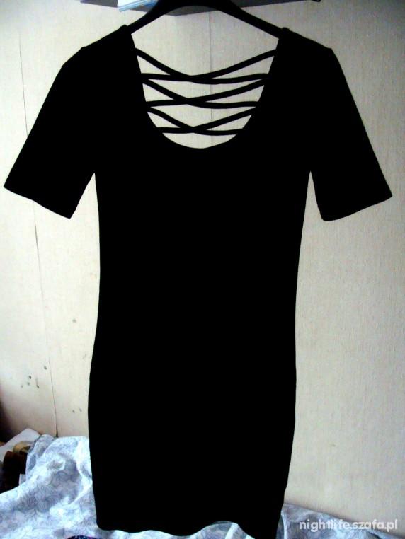 MONKI BANDAGE MINI BLACK DRESS