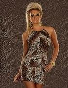 śliczna sukienka w panterke...