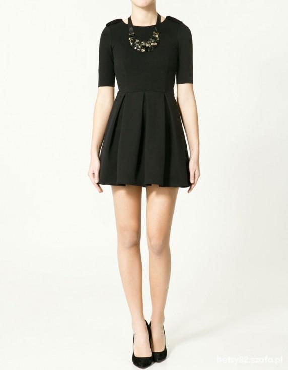 xs nowa czarna sukienka