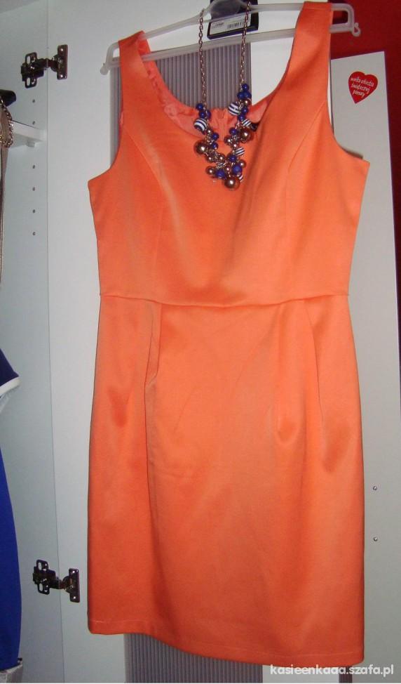 Eleganckie pomrańczowa sukienka