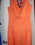pomrańczowa sukienka