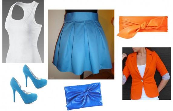 Eleganckie Niebieska