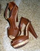 karmelowo brązowe buciki