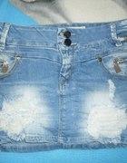 spódniczka mini dżinsowa z dodatkami...