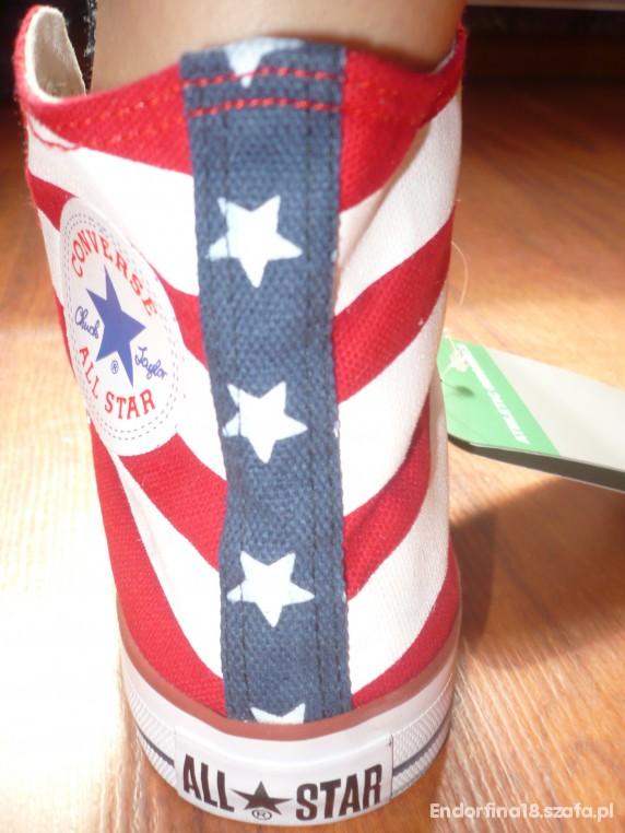 CONVERSE flaga USA 39 w Trampki Szafa.pl