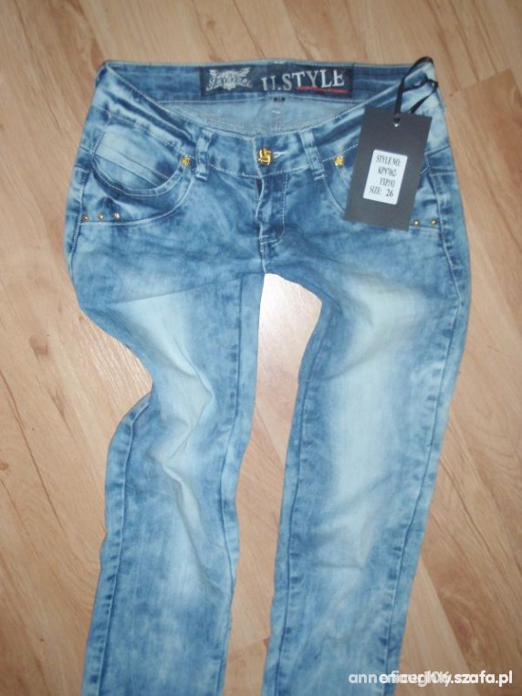 Spodnie jeansy marmurki