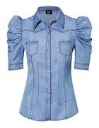 Dżinsowa koszula z bufkami H&M