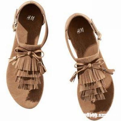 Sandałki HM frędzle
