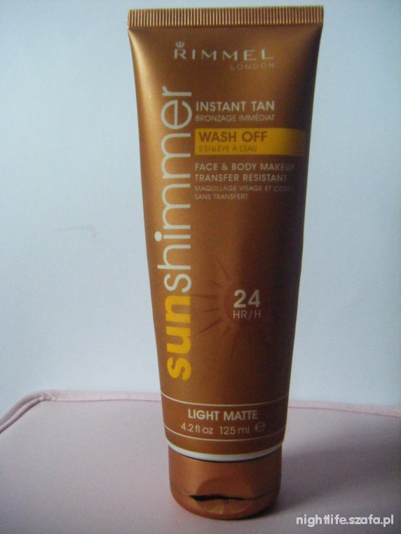RIMMEL SUNSHIMMER INSTANT TAN LIGHT MATTE SZUKAM...