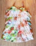 śliczna falbaniasta sukienka na lato 36 38
