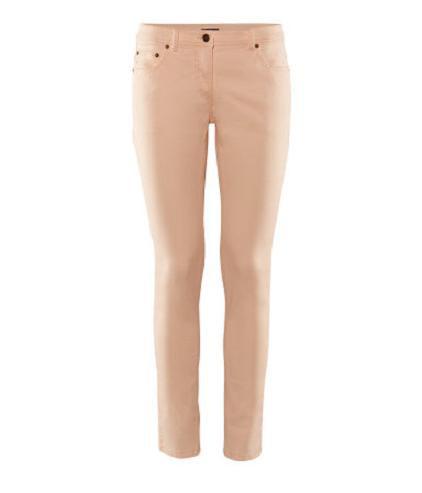 Spodnie rurki pudrowe łososiowe HM HiM HandM