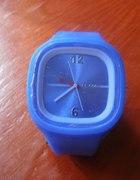 Granatowy gumowy zegarek Jelly