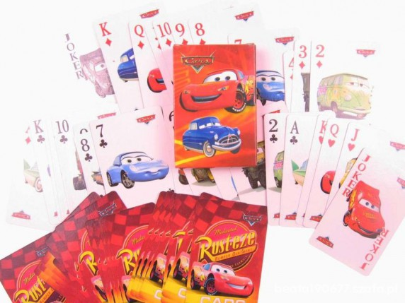 Zabawki ZYGZAK CARS KARTY DO GRY NOWE