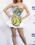 smerfowa stylizacja Katy Perry
