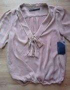 Pudrowa bluzka Zara...