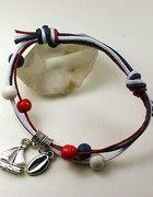 Sznurkowa bransoletka w marynarskim stylu charms 2
