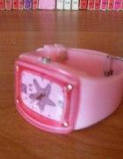 silikonowy różowy zegarek...