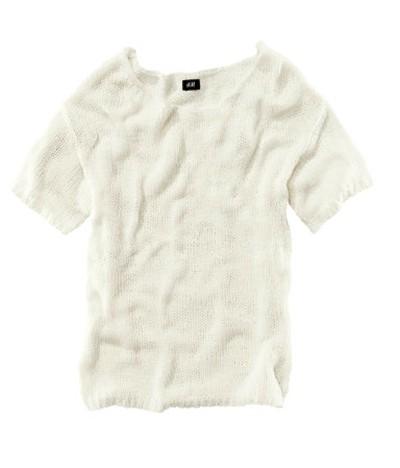 Kremowy pleciony sweterek bluzka H&M...