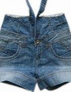 spodenki japan style jeans na szelkach
