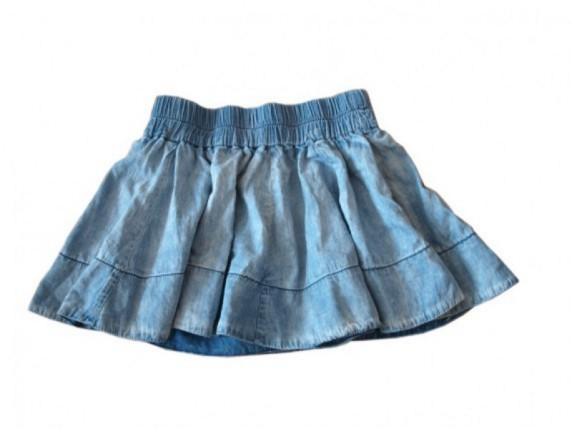 Spódnica jeansowa rozkloszowana