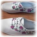 tenisówki floral ręcznie malowane
