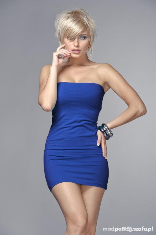Suknie i sukienki Kobaltowa mini rozmiar S