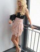 Sukienka gorsetowa pudrowa z H&M