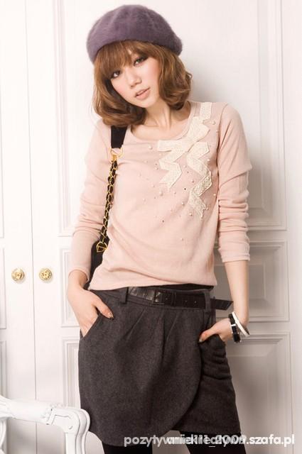 sweterek z kokardką amisu