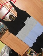 gina tricot 3 kolorowa tunika kieszonka poszerzana