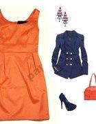 Orange Modna Sukienka