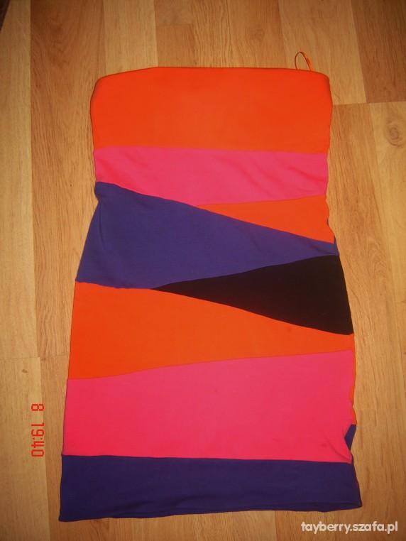 Mój styl Kolorowa sukienka
