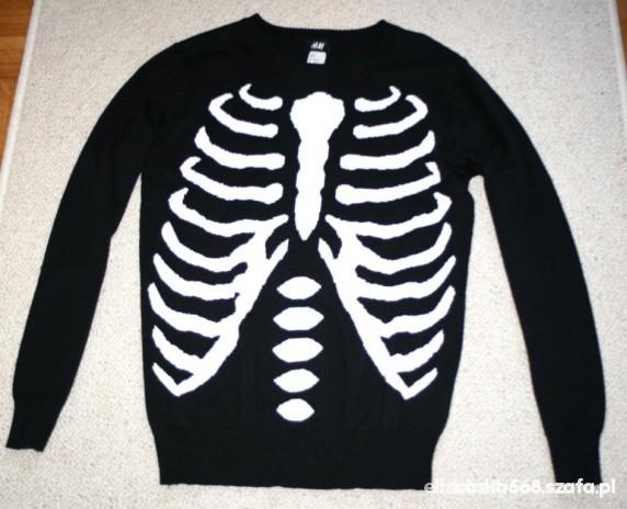 Sweter H&m szkielet...