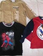 3 bluzki z długim rękawem 3 lata